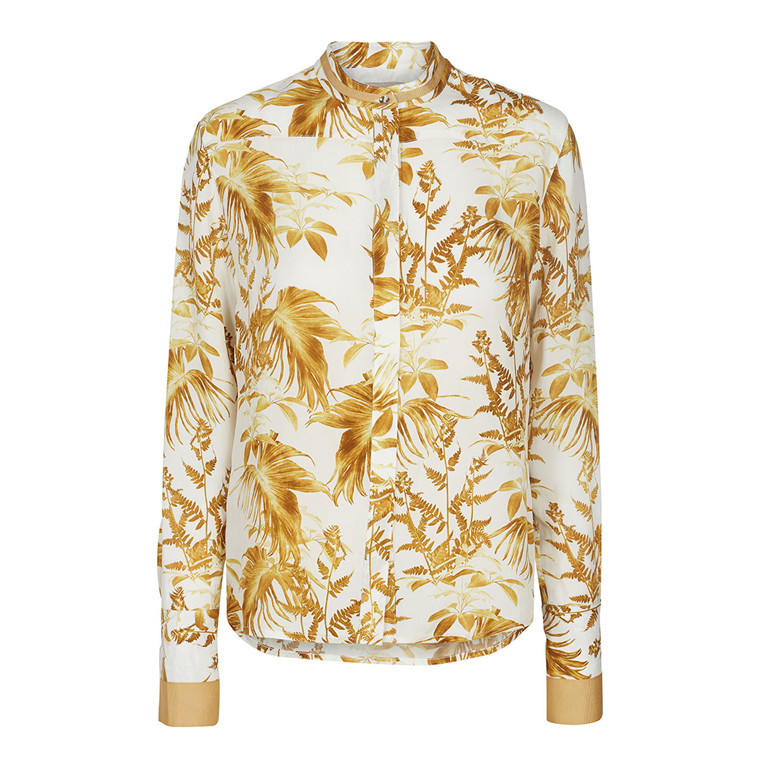 MOS MOSH SKJORTE - JUNE CANNES LEMON PRINT