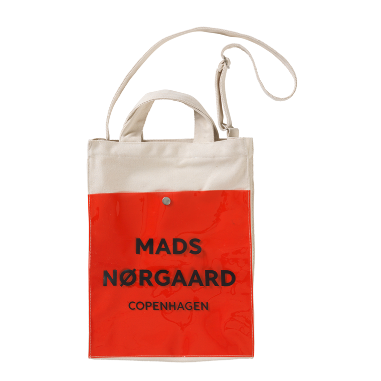MADS NØRGAARD TASKE - TÖTE ECRU/RED