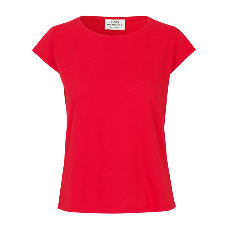 MADS NØRGAARD T-SHIRT - TEASY RED