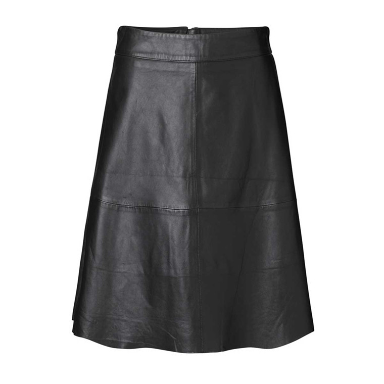 MADS NØRGAARD NEDERDEL - STELLY CLEAN POLI HIDE BLACK