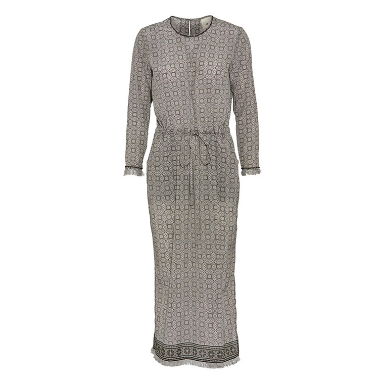 JULIE FAGERHOLT - HEARTMADE KJOLE - HINNA 847 GREY / Off-WHITE PRINT