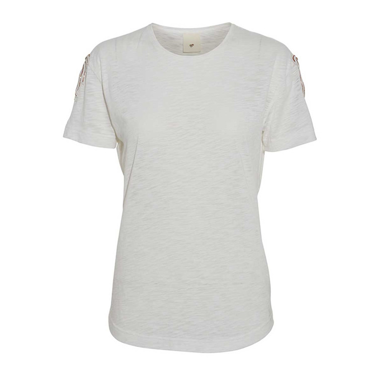 JULIE FAGERHOLT - HEARTMADE T-SHIRT - EMPI TEE OFF WHITE