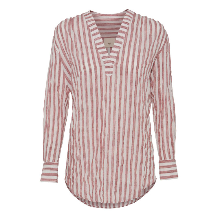 JULIE FAGERHOLT - HEARTMADE SKJORTE - MIKA 315 RED STRIPE