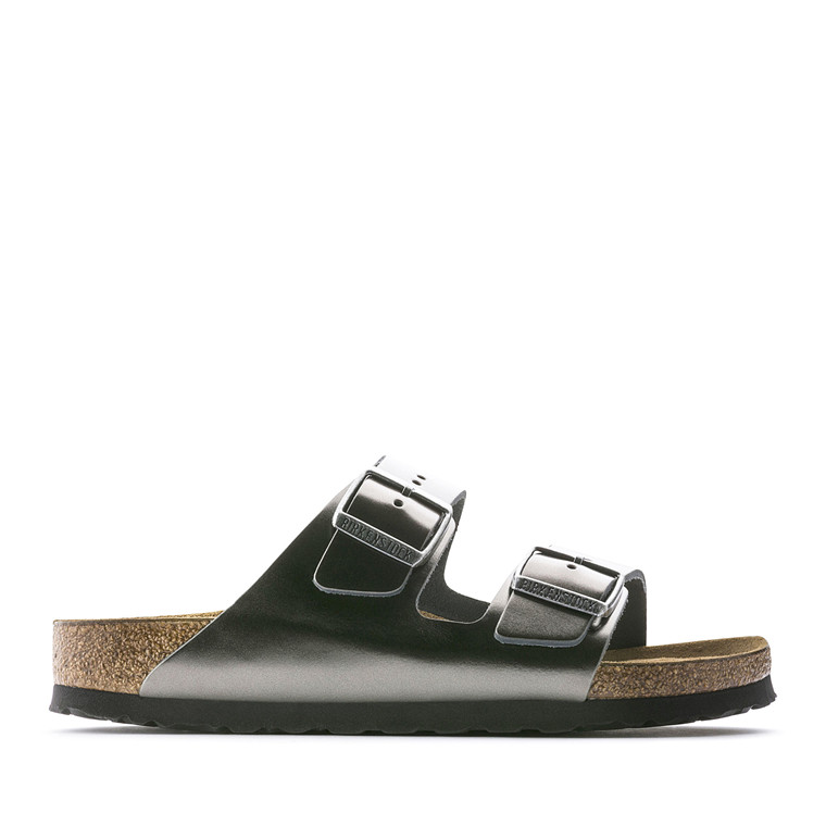 BIRCKENSTOCK SANDAL - 1000295 ARIZONA METALLIC ANTHRACITE