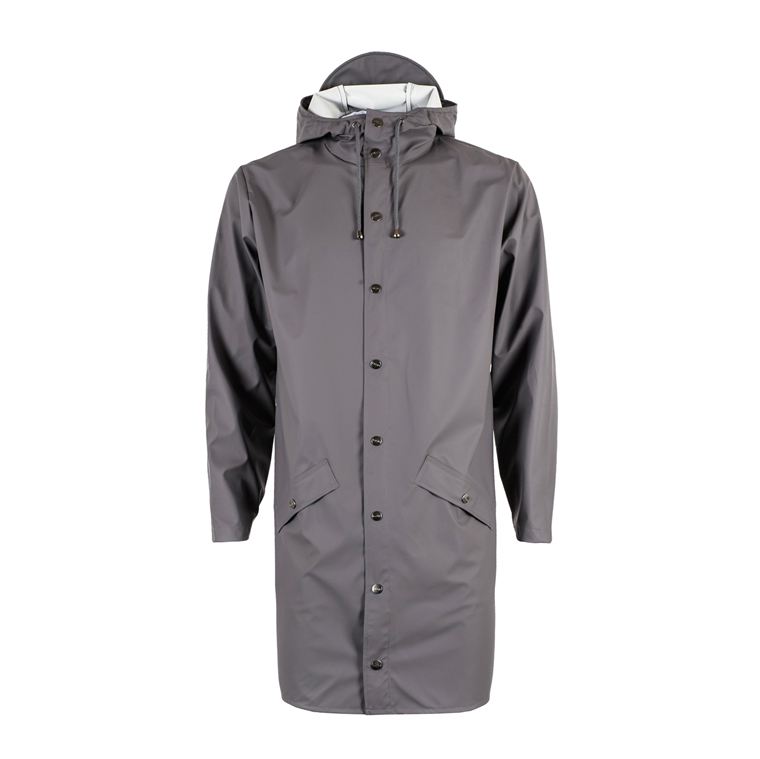 RAINS REGNJAKKE - 1202 LONG JACKET SMOKE