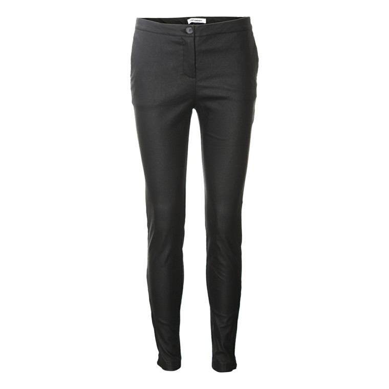 CO'COUTURE BUKSER - JULIA COATED PANTS BLACK