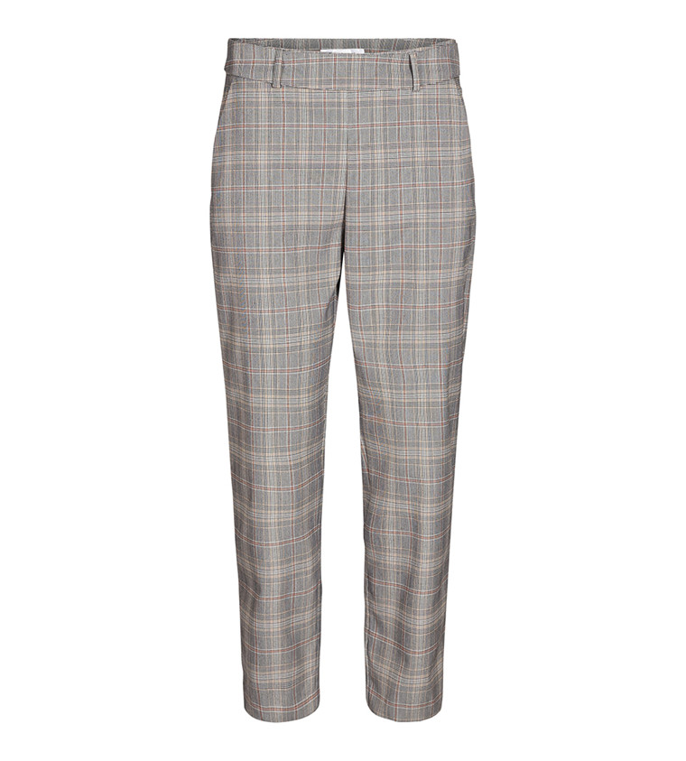 CO'COUTURE BUKSER - HOLLY CHECK MID GREY