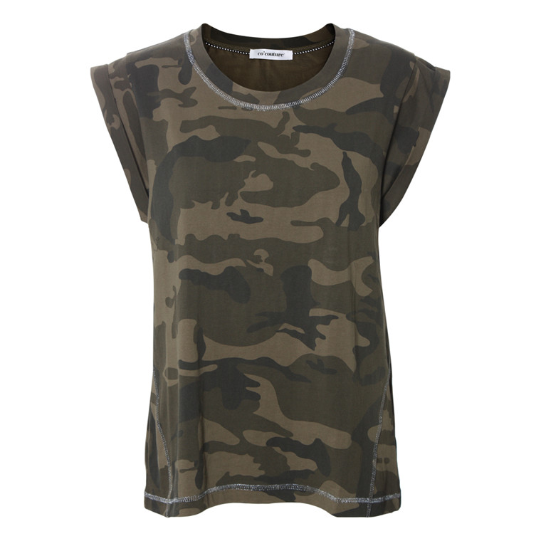 CO'COUTURE T-SHIRT - YIK CAMOUFLAGE