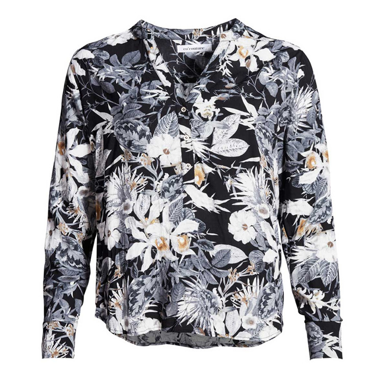 CO'COUTURE BLUSE - COCO LILLY BLACK