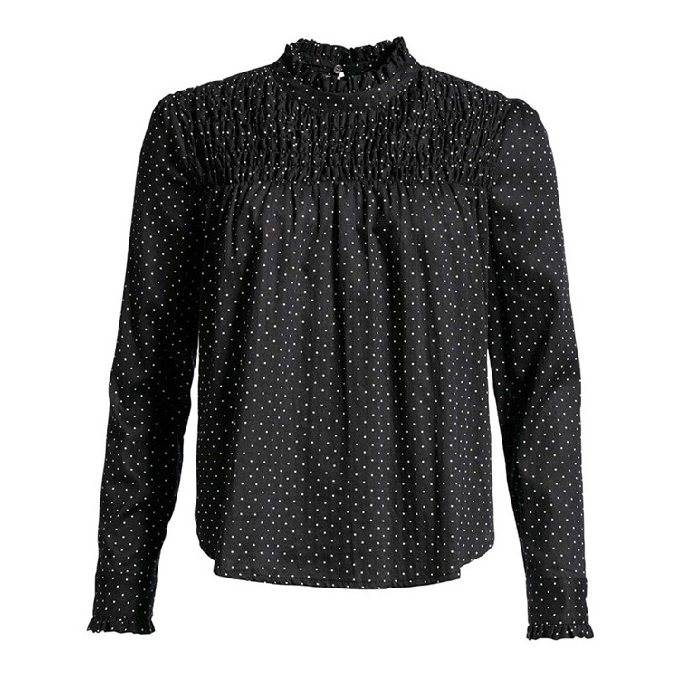 CO'COUTURE BLUSE - LOOPIE DOT BLACK