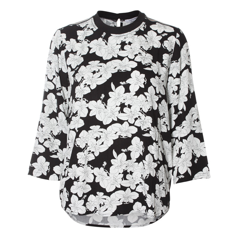 CO'COUTURE BLUSE - FALL FLOWER BLACK