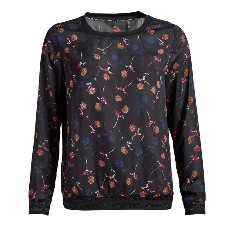 CO'COUTURE BLUSE - NEW POPPY BLACK