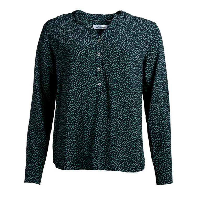 CO'COUTURE BLUSE - COCO FOREST GREEN