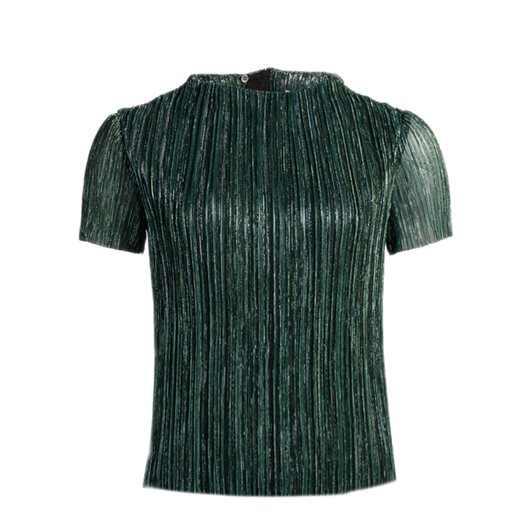 CO'COUTURE BLUSE - ARIAL GLITTER GREEN