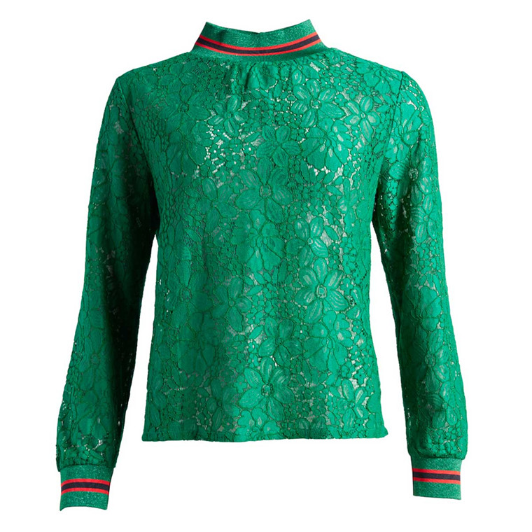 CO'COUTURE BLUSE - MAJA LACE GREEN
