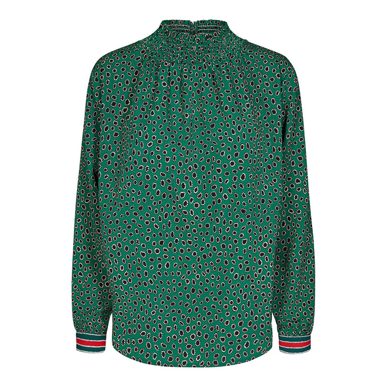 CO'COUTURE BLUSE - FELINE DELUXE GREEN