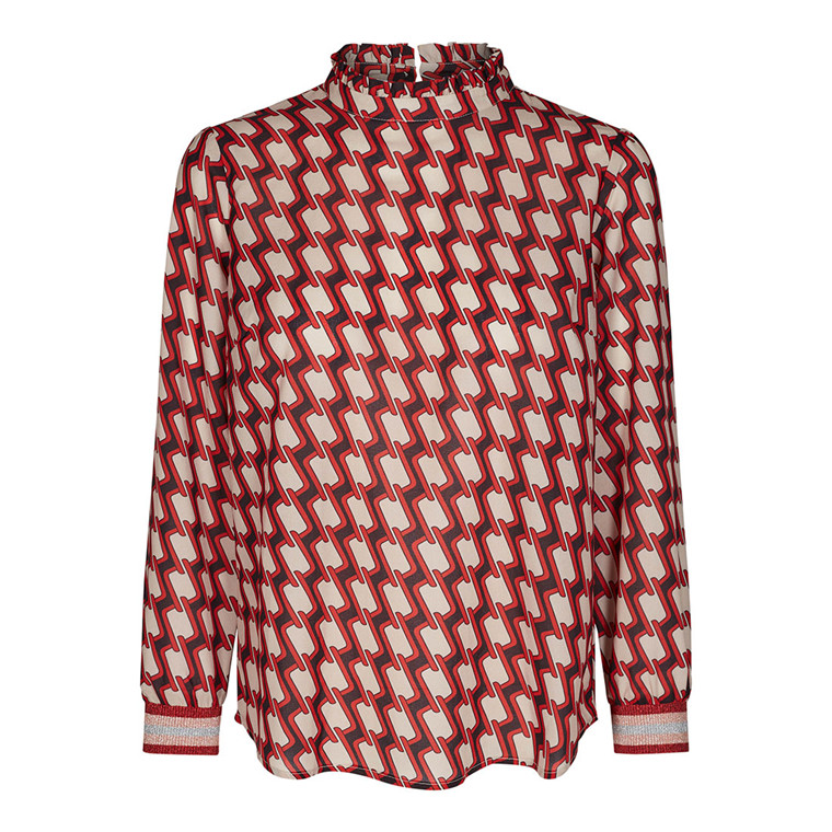 CO'COUTURE BLUSE - NEW LOOPIE RIO RED