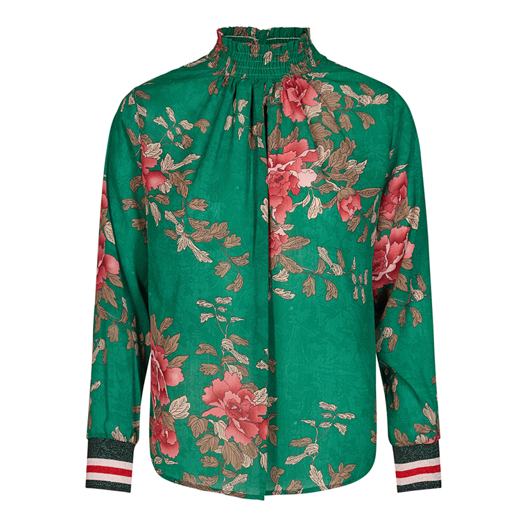 CO'COUTURE BLUSE - LOTUS SMOCK SPORT - GREEN