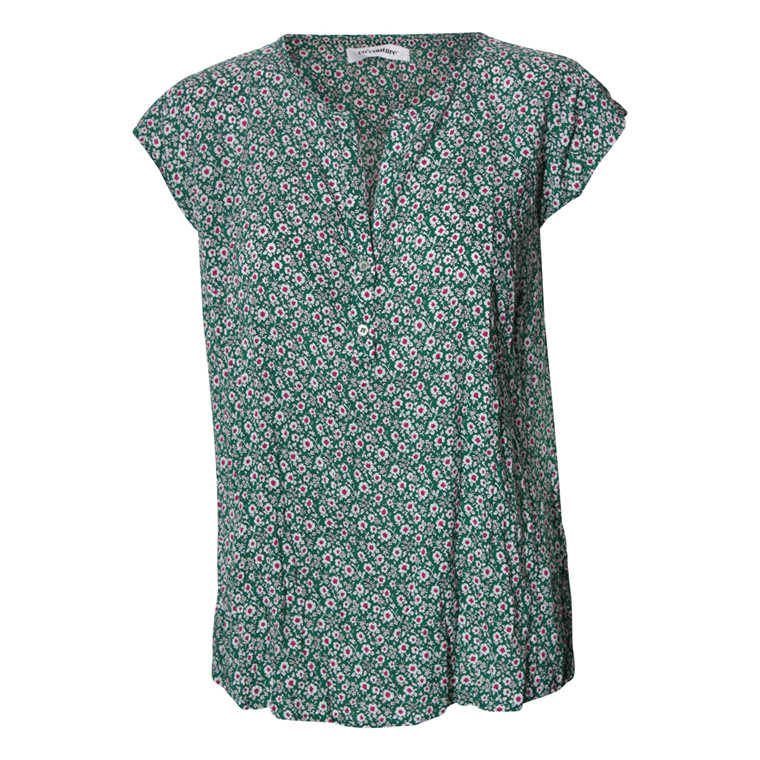 CO'COUTURE BLUSE - DOOBIE MILLA FLOWER GREEN