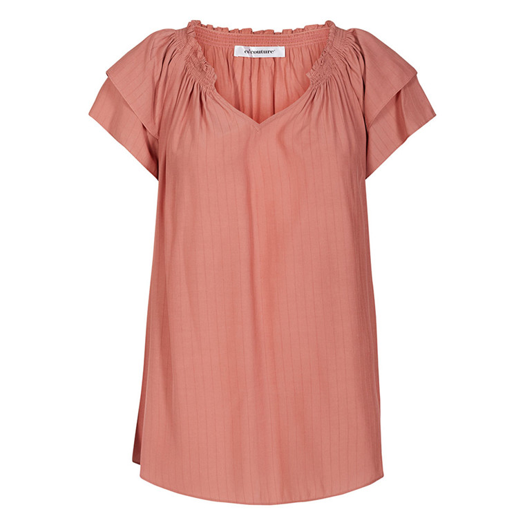 CO'COUTURE TOP - SUNRISE STRIPE ROSE