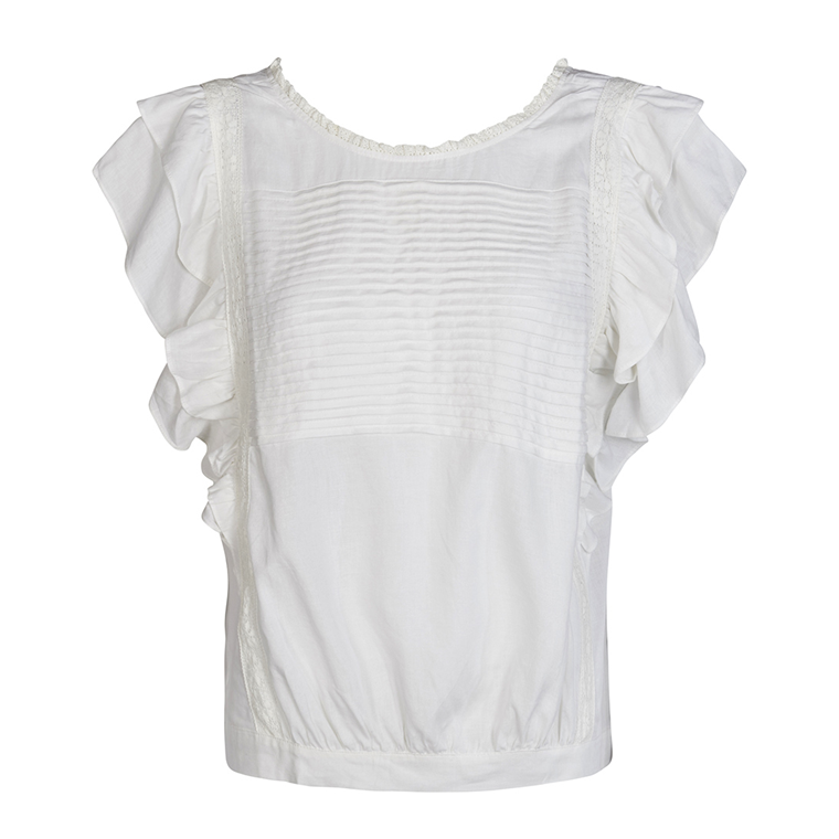 CO'COUTURE TOP - HIPPIE OFF WHITE
