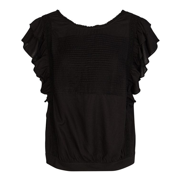 CO'COUTURE TOP - HIPPIE BLACK