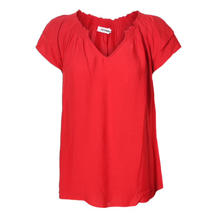 CO'COUTURE TOP - SUNRISE RED