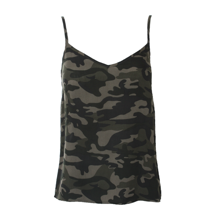 CO'COUTURE TOP - LOPEZ CAMOUFLAGE ARMY