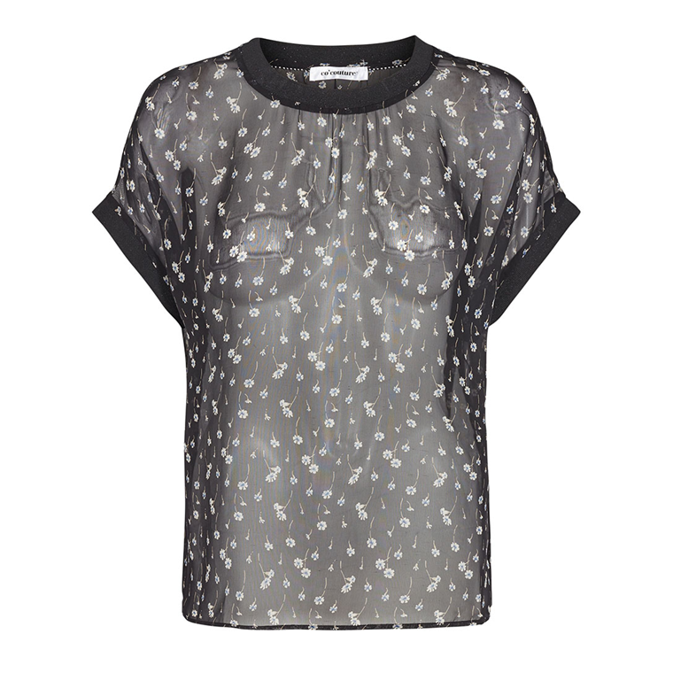 CO'COUTURE TOP - NORMA DAISY BLACK