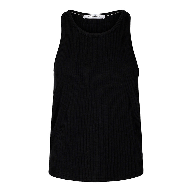 CO'COUTURE TOP - RIB TANK BLACK