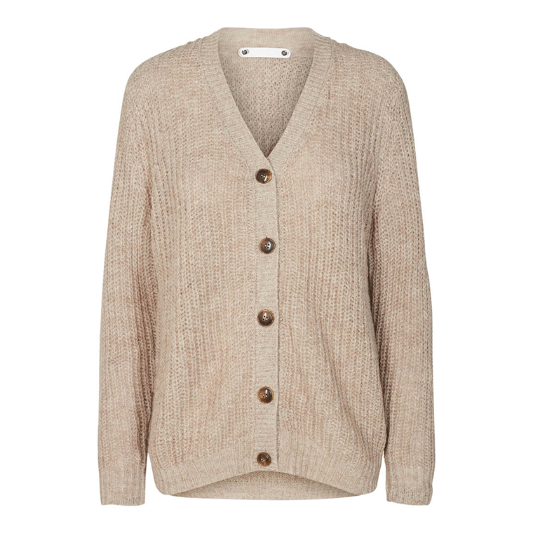CO'COUTURE CARDIGAN - DENIRO RIB BONE