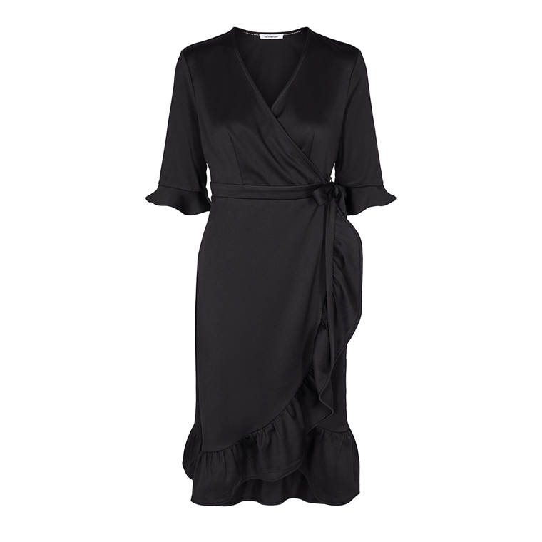 CO'COUTURE KJOLE - PLAIN WRAP BLACK