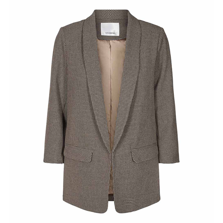 CO'COUTURE BLAZER - ELENA CHECK COGNAC