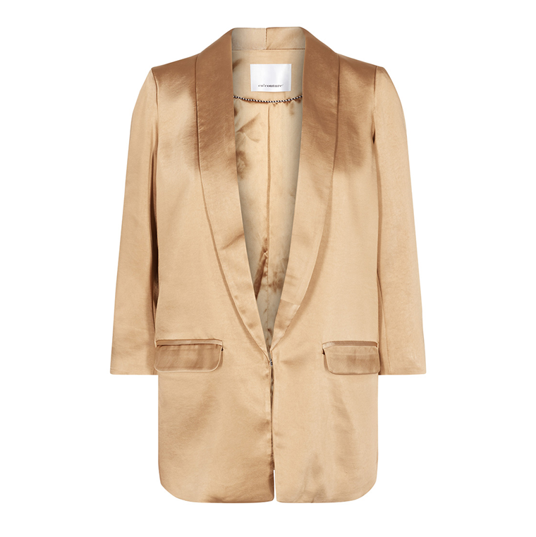 CO'COUTURE BLAZER - ANDREA SATEEN GULD