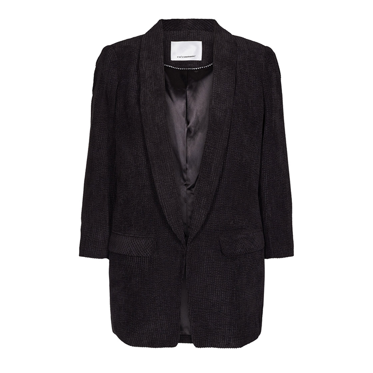 CO'COUTURE BLAZER -  HAYLEE CORDUROY BLACK