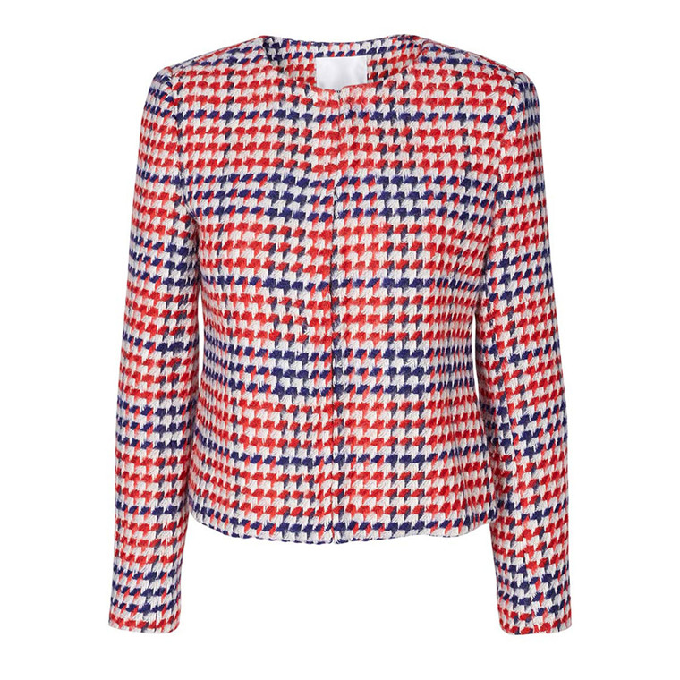 CO'COUTURE BLAZER - NEW CACIA CHECK RIO RED