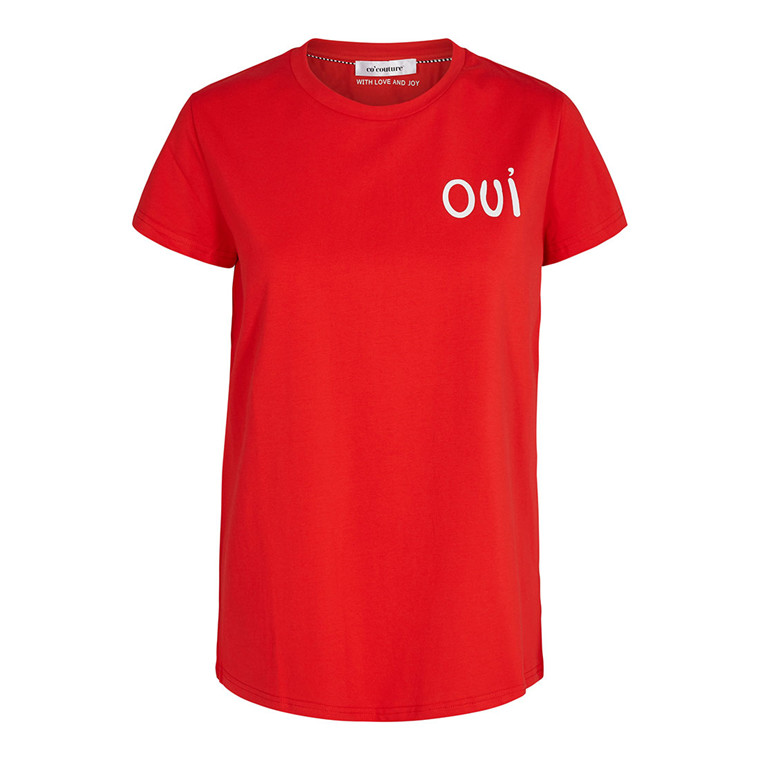 CO'COUTURE T-SHIRT - OUI TEE RED