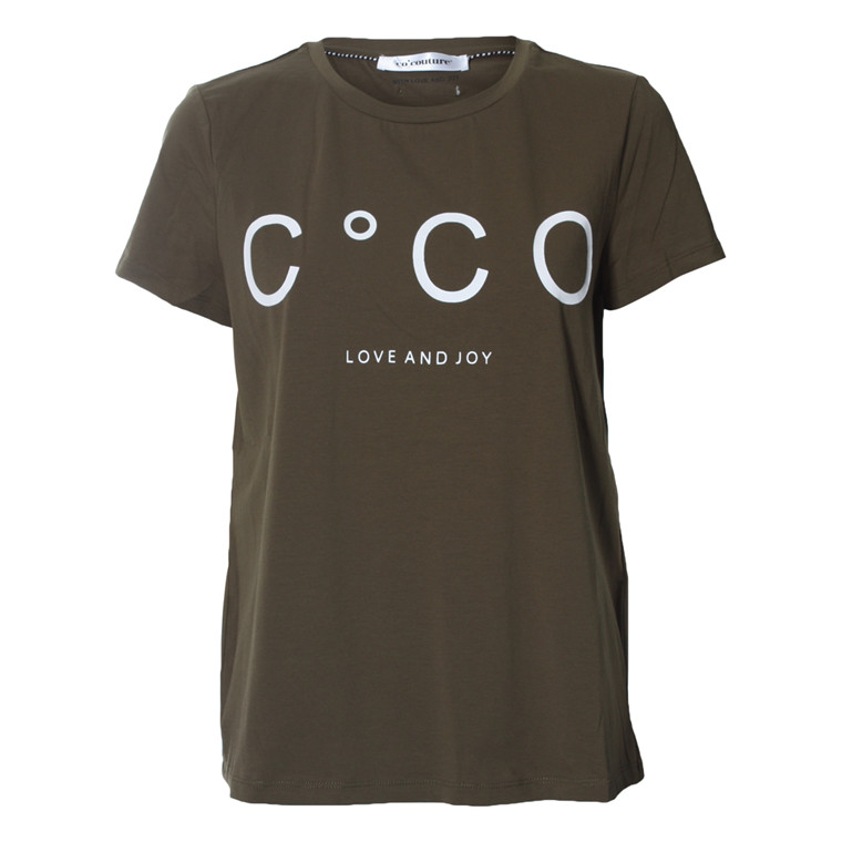 CO'COUTURE T-SHIRT - COCO SIGNATURE ARMY