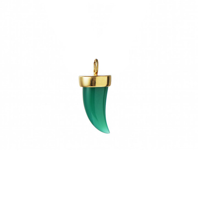 STINE A VEDHÆNG - 5025 TIGER TOOTH PENDANT GREEN