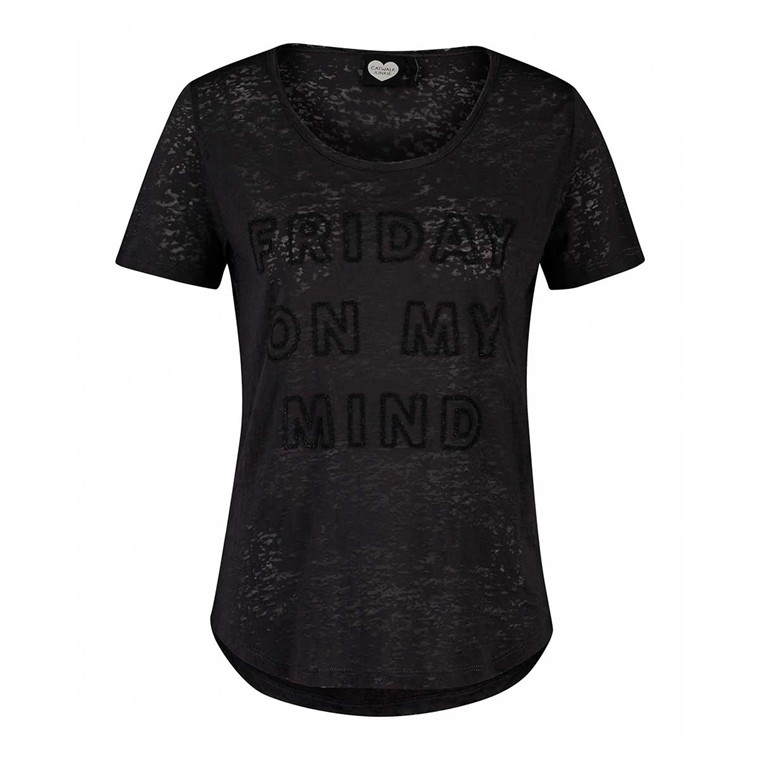 CATWALK JUNKIE T-SHIRT - FRIDAY VIBES DARK GREY