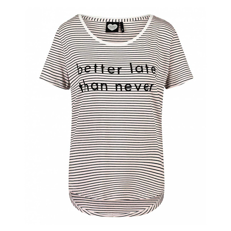 CATWALK JUNKIE T-SHIRT - FINE LINE LATE OFF WHITE