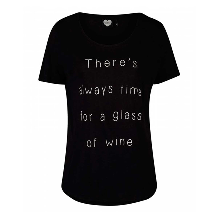 CATWALK JUNKIE T-SHIRT - ALWAYS TIME BLACK