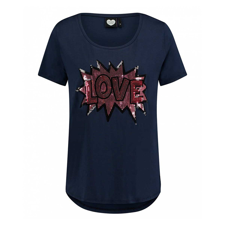 CATWALK JUNKIE T-SHIRT - LOVE POP MIDNIGHT