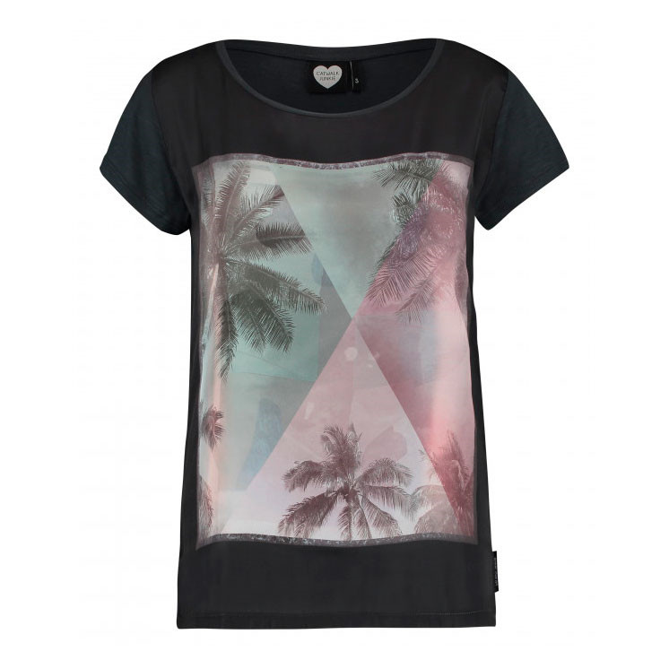 CATWALK JUNKIE T-SHIRT - PALM SKY METAL