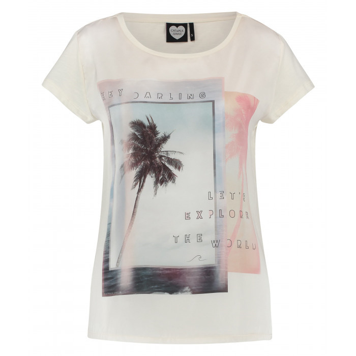 CATWALK JUNKIE T-SHIRT - GOING PLACES SUN BAKED
