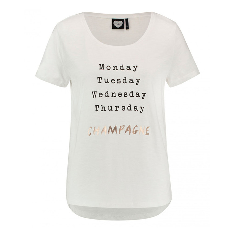 CATWALK JUNKIE T-SHIRT - FRIYAY OFF WHITE