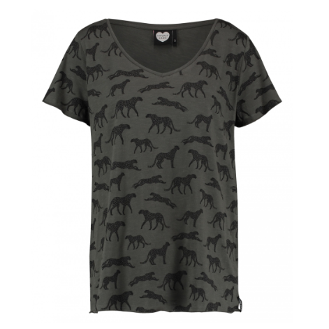 CATWALK JUNKIE T-SHIRT - CHEETAH PARTY THYME