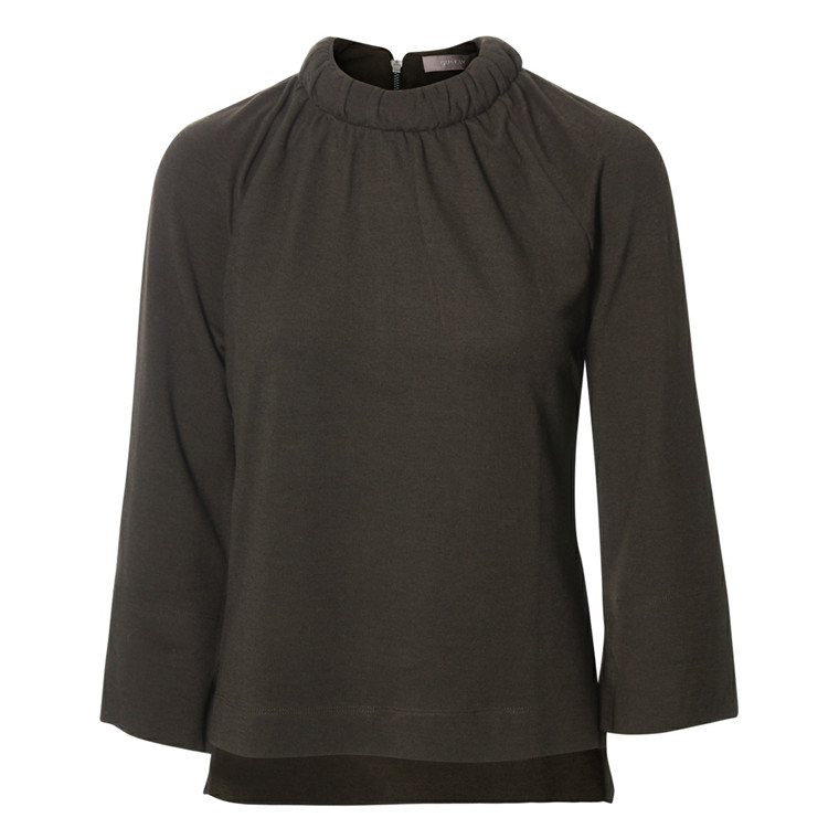 GUSTAV HIGH COLLAR T-SHIRT - 20701 30 ARMYGRØN