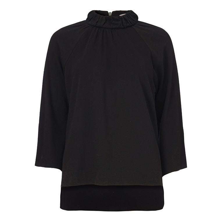 GUSTAV HIGH COLLAR T-SHIRT - 20701 10 BLACK