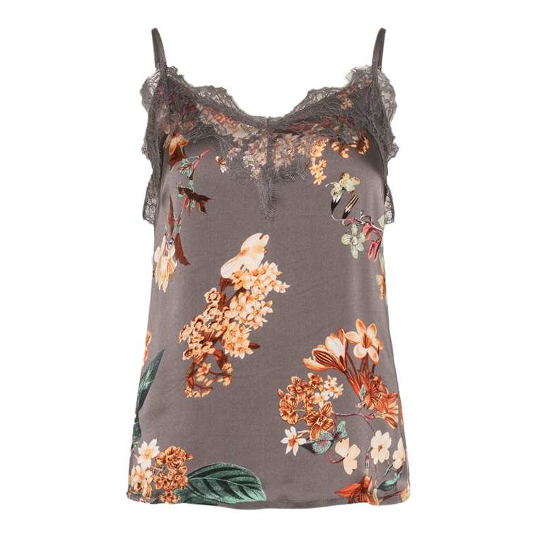 LOVE & DIVINE TOP - LOVE 209-1 GREY FLOWER